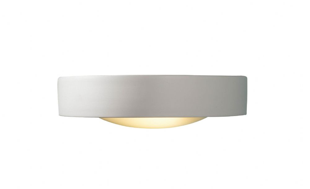 Catalan 1-light Satin Ceramic/Glass Double Insulated Wall Light  (Double Insulated) BXCAT072-17